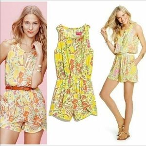 Lilly Pulitzer Target Challis Happy Place Romper M